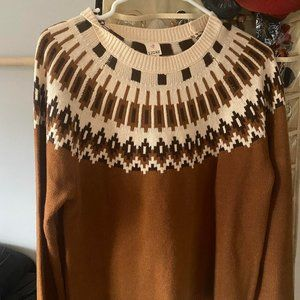 Brown Modcloth Sweater Detailed Relaxed Fit